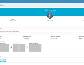 Social Timeline Dashboard Layouts header